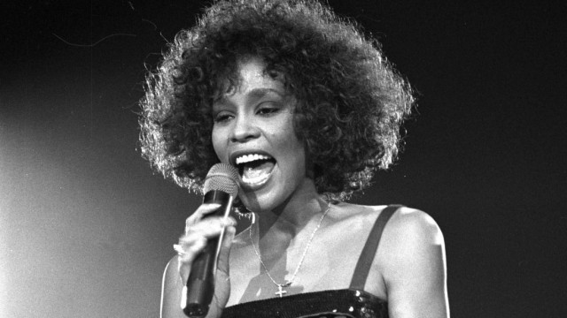 File photo of Whitney Houston performing in London
