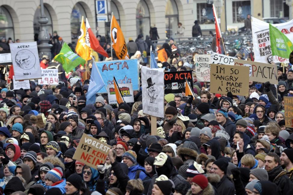 Anti-Acta-Demo in München
