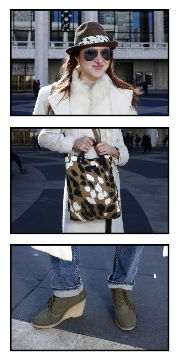 Megan McInerney poses for a series of portraits outside of Lincoln Center, the site of the Fall/Winter 2012 New York Fashion Week
