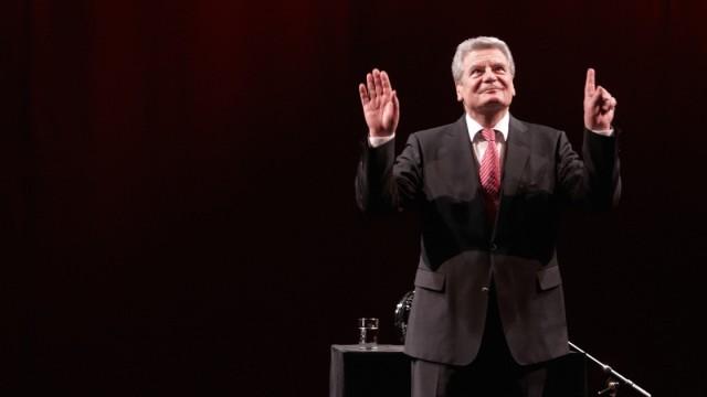 Joachim Gauck in Koblenz Bundespräsident Kandidat