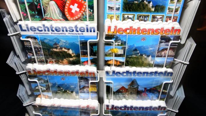Liechtenstein Fürstentum Steueroase Postkarten