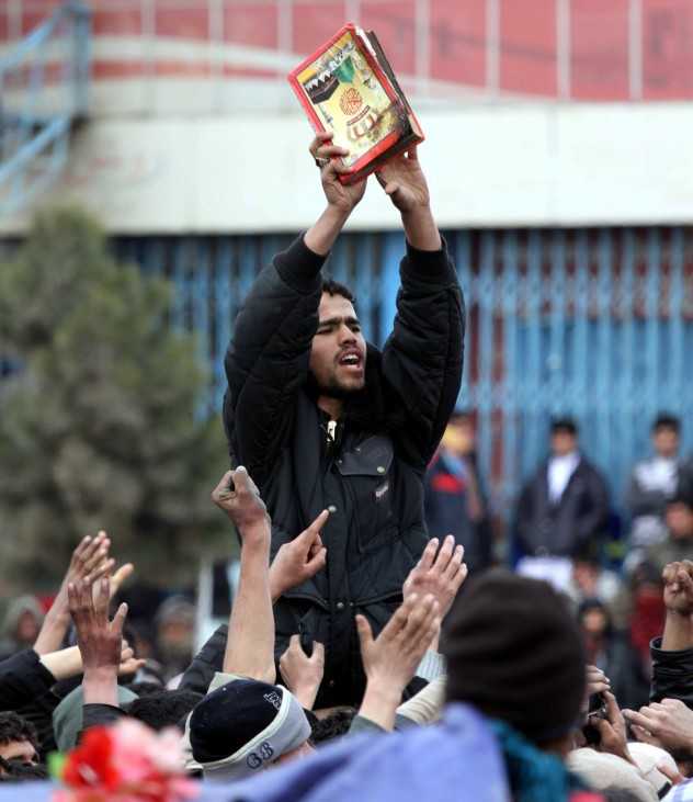 Protest in Afghanistan over 'Koran burning' by US troops