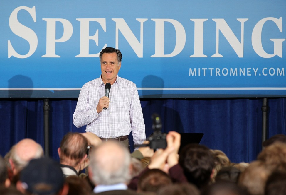 Republican Presidential Candidate Mitt Romney Campaigns In Michigan Ahead Of State's Primary