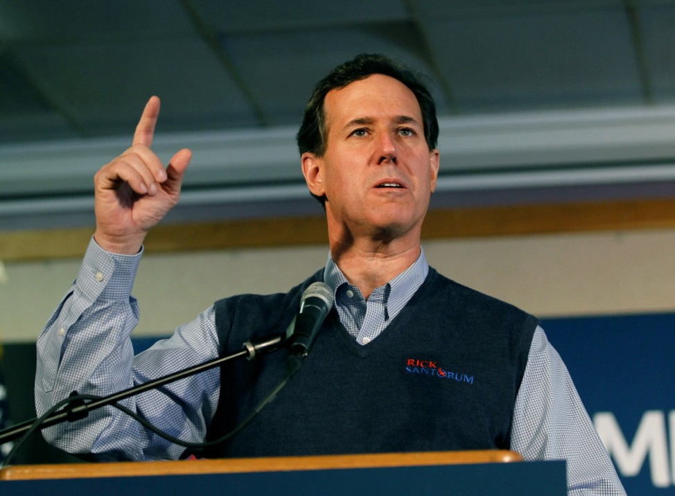 Santorum Campaigns In Ohio Ahead Of Super Tuesday Contests