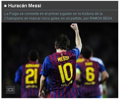 Screenshot El Pais Messi