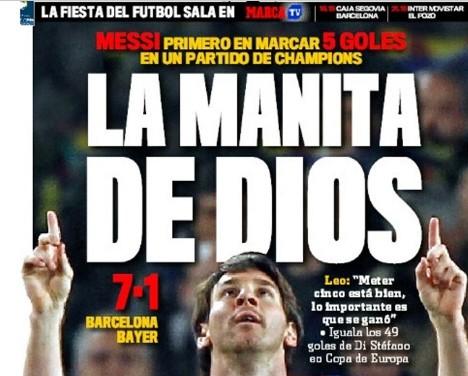 Screenshot Marca Messi