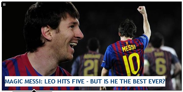 Screenshot Daily Mirror Messi