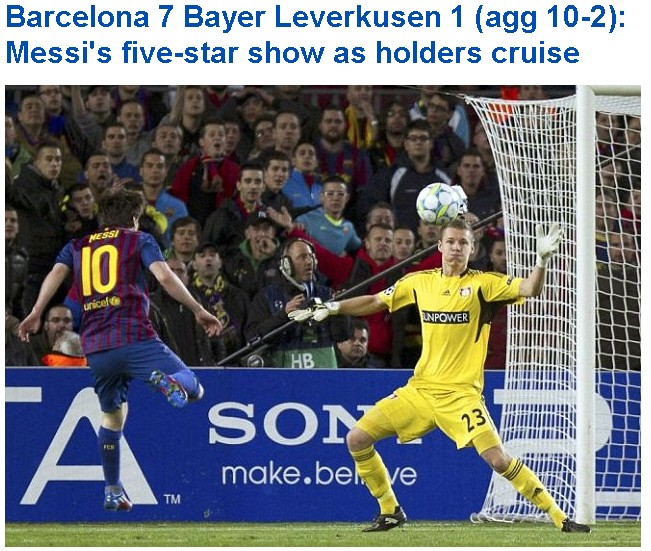 Screenshot Daily Mail Messi