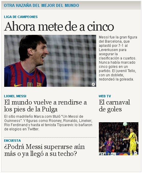 Screenshot Clarin Messi