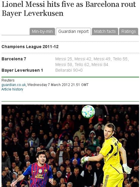 Screenshot Guardian Messi