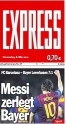 Express Messi Presse nach Gala gegen Leverkusen