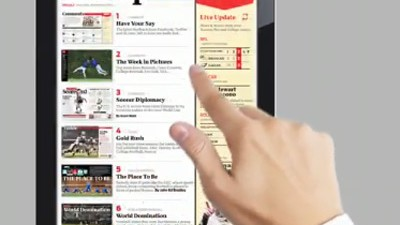 2010: Tablet-Computer kommen: Sports-Illustrated-Demonstration: Verleger hoffen auf die Tablets