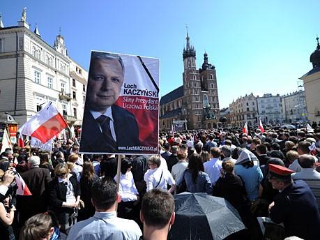 Kaczynski Krakau Polen AFP
