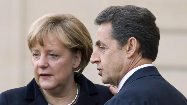 Sarkozy and Merkel euro crisis meeting