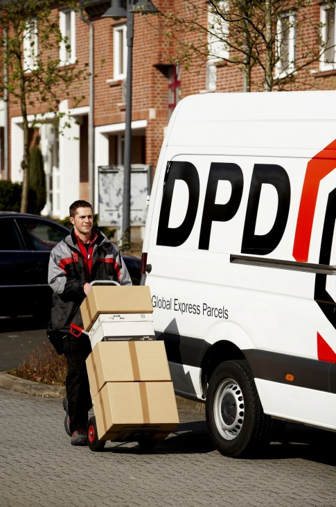 DPD Bildmotiv Zustellung Sprinter