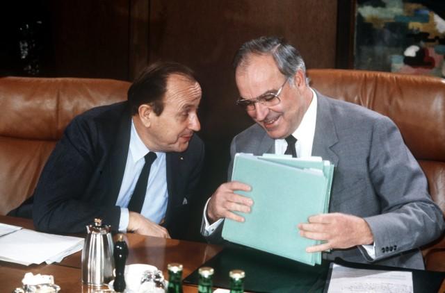 Hans-Dietrich Genscher Helmut Kohl 1982