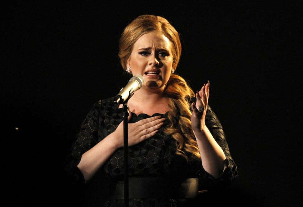 Adele performs 'Someone Like You' at the 2011 MTV Video Music Awards in Los Angeles