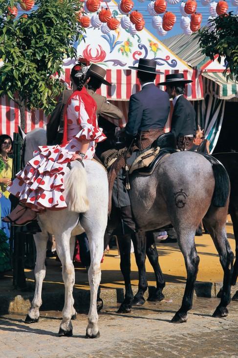 Spanien Andalusien Sevilla Feria de Abril
