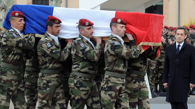French soldiers remembrance ceremony