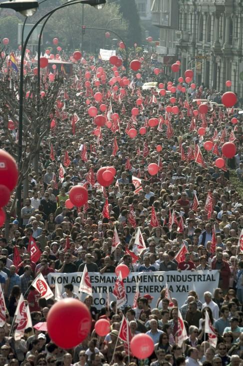 24-hour general strike in Spain