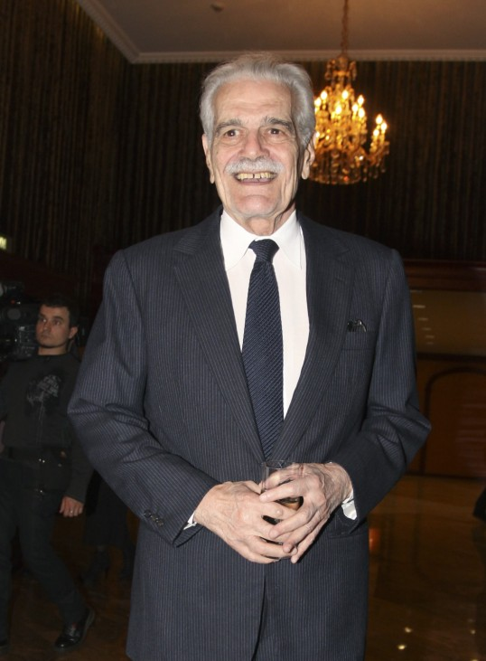 Actor Omar Sharif attends a charity auction held by the Federation Fund in Moscow