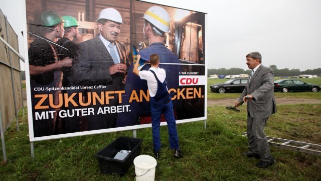 Wahlkampf der CDU in Mecklenburg-Vorpommern