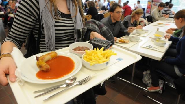 Volle Mensa zum Semesterbeginn in der Münchner LMU, 2011