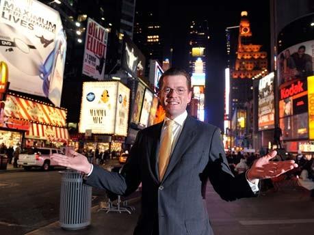 Guttenberg Times Square New York, dpa