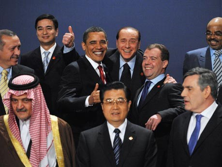 G-20 Obama Berlusconi London, AFP