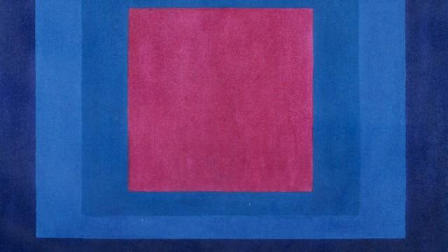 """Die Geschichte eines gefälschten Bildes: Die Fälschung des Josef-Albers-Gemäldes """"Spring Tide"""": Ein deckender und viel zu glatter Farbauftrag, der nichts mit den atmenden und leicht unregelmäßigen Farbflächen zu tun hat, die der Maler liebte."""