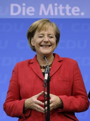 Angela Merkel Bundestagswahl Wahlabend Reaktion, Reuters