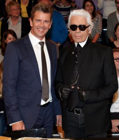 Karl Lagerfeld bei 'Markus Lanz'
