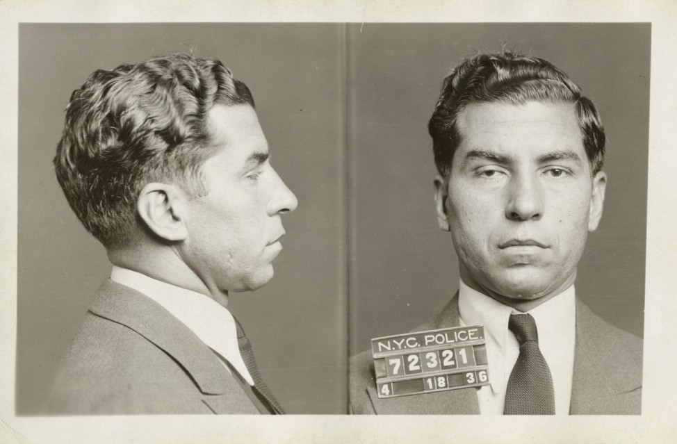 New Yorker Stadtarchiv Charles 'Lucky' Luciano