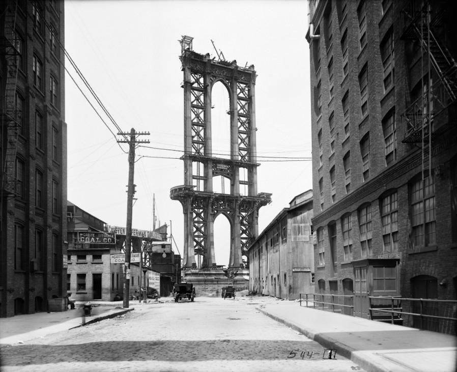 New Yorker Stadtarchiv Manhattan Bridge New York