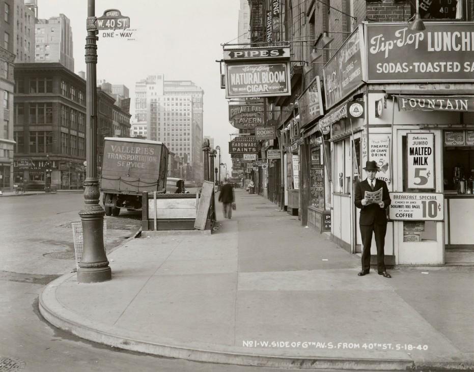 New Yorker Stadtarchiv Manhattan 1940