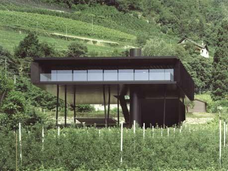 Europa Italien Südtirol Architektur, Wohnhaus der Architekten Höller und Klotzner, Maurizio Montagna