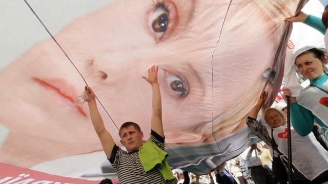 Anhänger von Julia Timoschenko protestieren