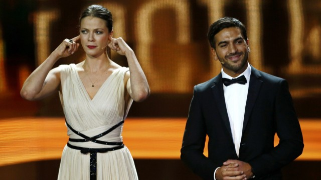 German actress Berben address the audiance during the German Film Prize (Lola) ceremony in Berlin