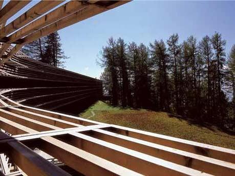 Europa Italien Südtirol Kunst Architektur Weinbau Wellness Hotel, Vigilius Mountain Resort