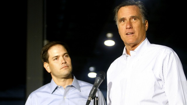 Marco Rubio Campaigns With Romney In Pennsylvania