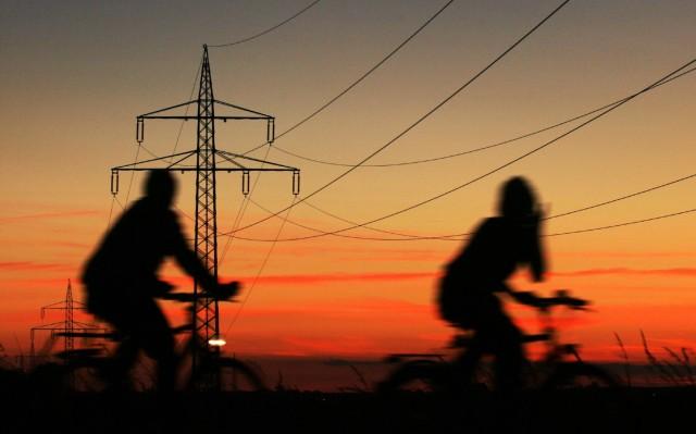 Fahrradfahren im Abendlicht