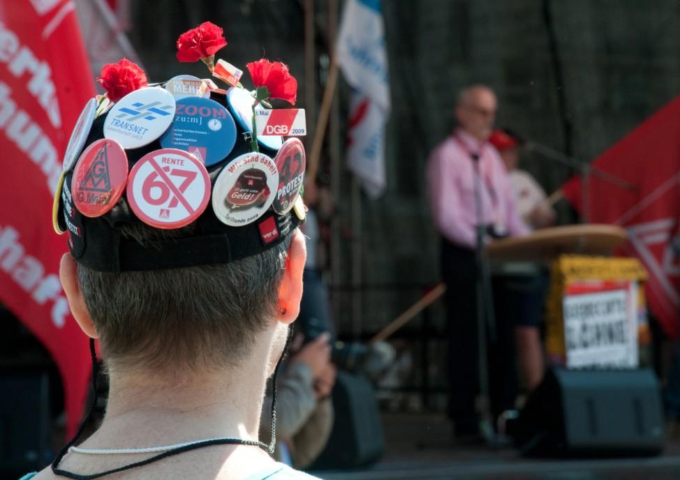Kundgebung zum 1. Mai in Berlin