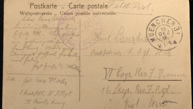 Postkarte Adolf Hitler 1916