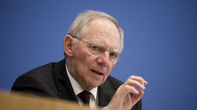 Bundesfinanzminister Schaeuble weist Forderungen Hollands zurueck