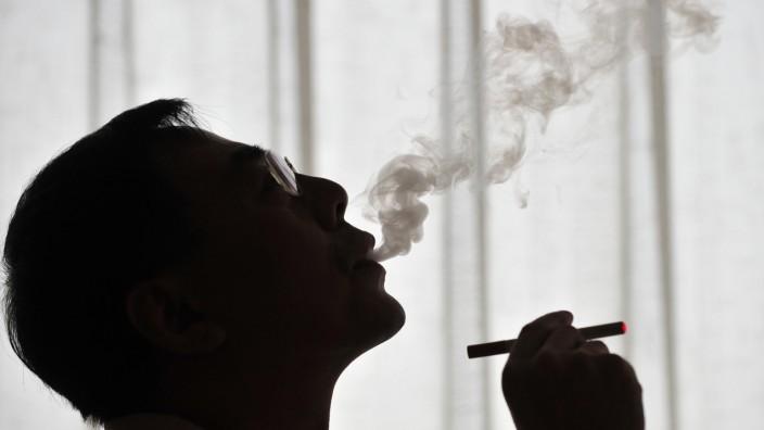 Dampf einer elektronischen Zigarette