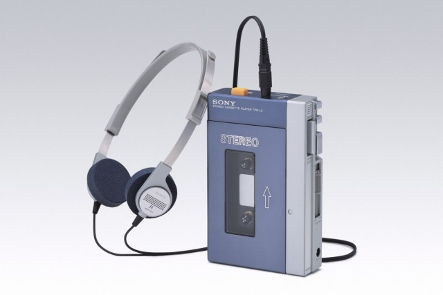 Sony Corp.'s first personal headphone stereo Walkman, the 'TPS-L2', launched in July 1979, is seen in this undated handout