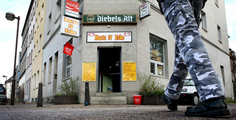 Kiosk 'Hartz IV Ecke' in Duisburg