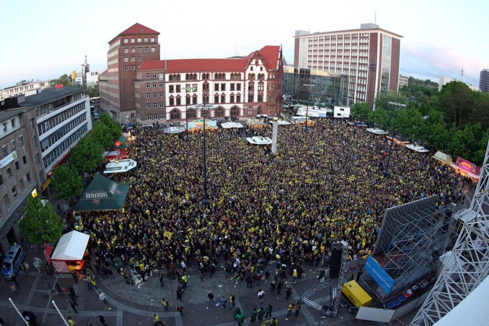Jubel in Dortmund über Sieg im DFB-Pokal