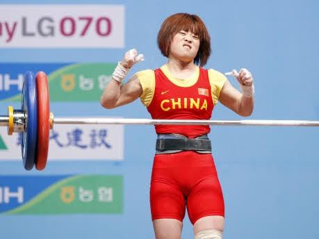China; Gewichtheben; WM; Goyang; Südkorea; Wang Mingjuan; Reuters