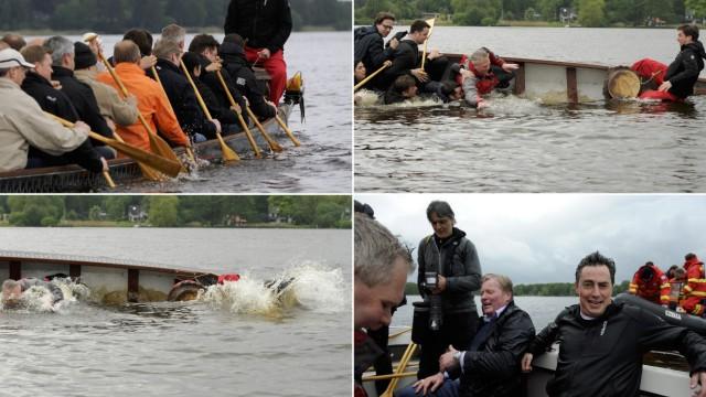 McAllister kentert mit Drachenboot
